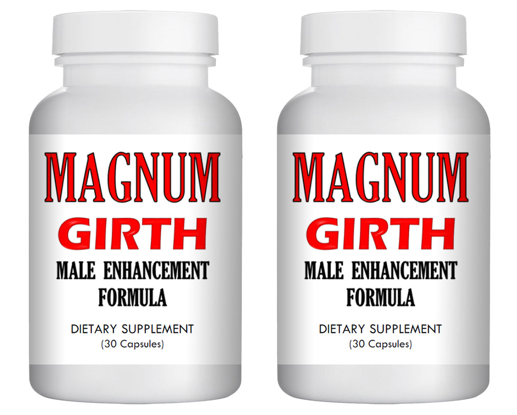 MAGNUM GIRTH - MALE PENIS ENLARGER THICKER LONGER BIGGER GROWTH 60 ENLARGEMENT PILLS 2x Bottles