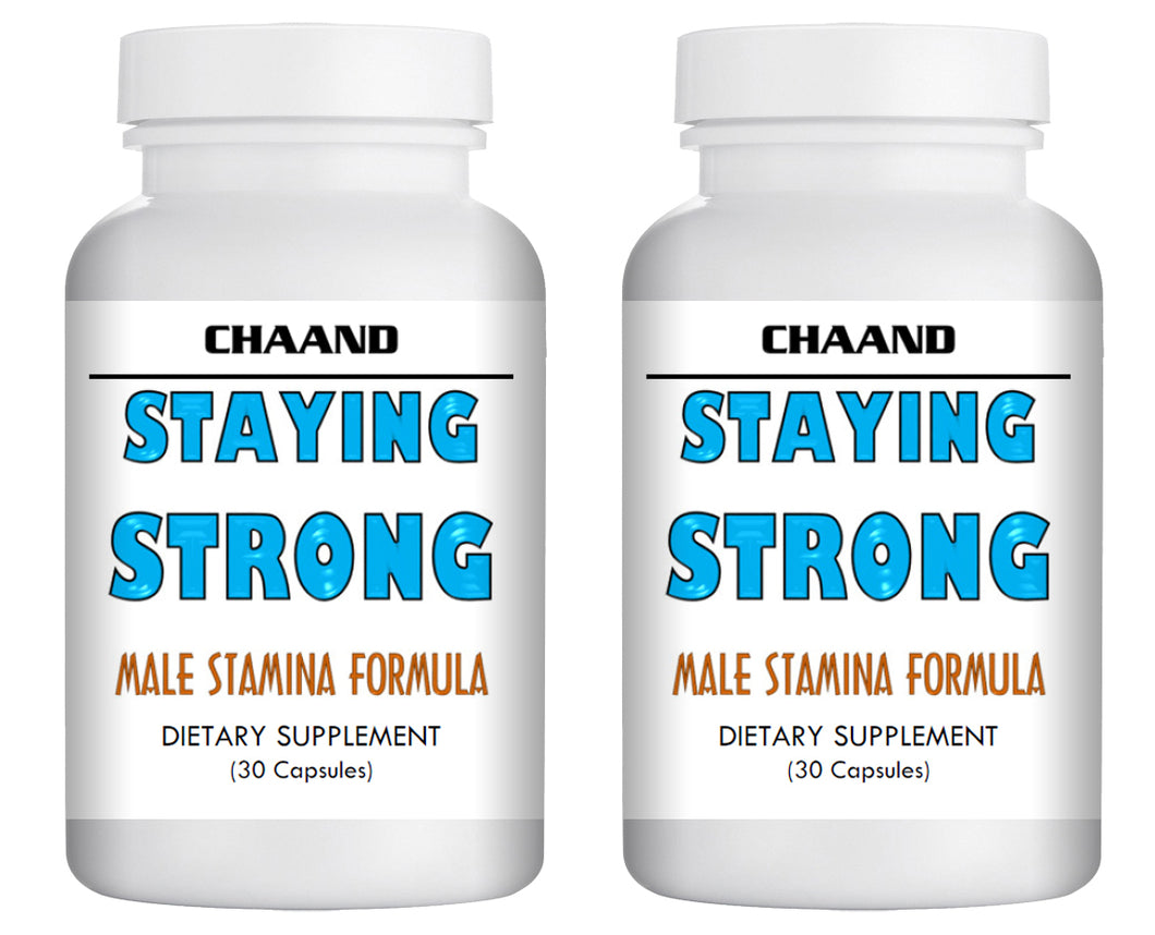 STAYING STRONG - SEX PILLS FOR MEN - STAY HARD LONGER - NATURAL DIETARY SUPPLEMENT 60 Pills 2x Bottles