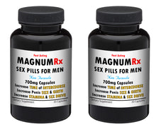 Load image into Gallery viewer, MAGNUM RX Male Enhancement Pills Sex STRONG MEN STAMINA SIZE 60x PILLS 2x Bottles