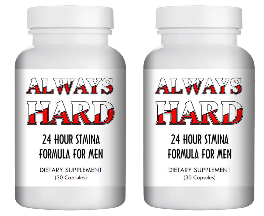 ALWAYS HARD - SEX PILLS FOR MEN - BE READY 24x7 - NATURAL DIETARY SUPPLEMENT 60 Pills, 2x Bottles