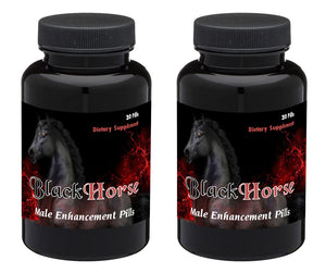 BLACK HORSE - PREMIUM HIGH END SEX PILLS FOR MEN - NATURAL DIETARY SUPPLEMENT 60 Pills 2x Bottles