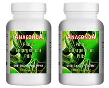 Load image into Gallery viewer, ANACONDA - SEX PILLS FOR MEN - INCREASE LENGTH AND GIRTH - NATURAL DIETARY SUPPLEMENT 60 Pills - 2x Bottles