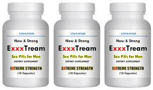 ExxxTREAM AMAZING SEX PILLS FOR MEN - BRAND NEW - Extreme Hard Erection 3x Bottles