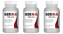 Load image into Gallery viewer, SizeMAX Effective Male Enhancement to increase penis size, hardness, stamina 180 Pills 3x Bottles