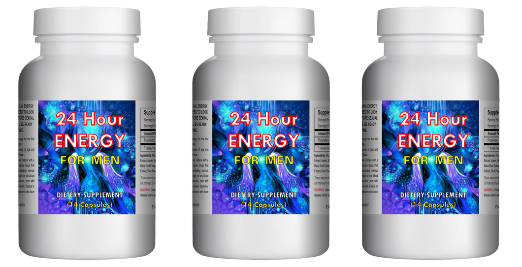 #1 24 Hour Strength Sex Enhancement Enhancer Men ED Erectile MALE SEX PILLS - 3x Bottles