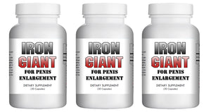 Iron Giant - MALE PENIS ENLARGEMENT PILLS LONGER BIGGER GROWTH 1-3 INCHES 120 DAYS - 3x Bottles