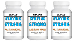 STAYING STRONG - SEX PILLS FOR MEN - STAY HARD LONGER - NATURAL DIETARY SUPPLEMENT 90 Pills 3x Bottles