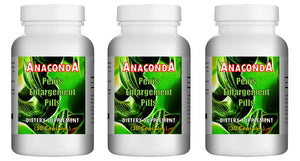 ANACONDA - SEX PILLS FOR MEN - INCREASE LENGTH AND GIRTH - NATURAL DIETARY SUPPLEMENT 90 Pills - 3x Bottles