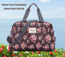 Load image into Gallery viewer, Women Lady Large Capacity Floral Duffel Totes Sport Bag Multi function Portable Travel Luggage Gym Fitness Bag