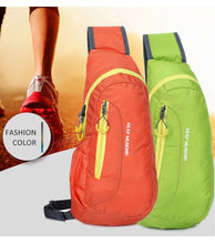 Load image into Gallery viewer, Unisex Waterproof Nylon Chest Bag Men Women Running Shoulder Bag Diagonal Outdoor Sports Gym