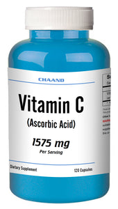 Vitamin-C Ascorbic Acid 1575mg Serving Immune Support HIGH POTENCY 120 Capsules USA SHIP
