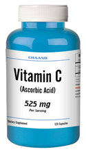 Load image into Gallery viewer, Vitamin-C Ascorbic Acid 525mg Serving Immune Support HIGH POTENCY 120 Capsules USA SHIP