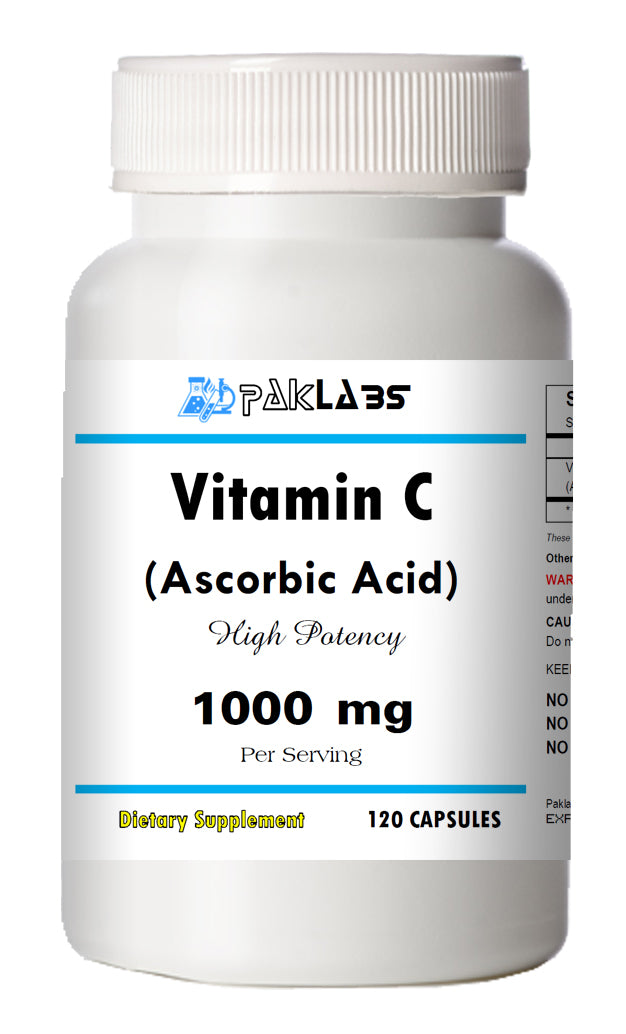 Vitamin-C Ascorbic Acid 1000mg Immune Support HIGH POTENCY 120 Capsules NEW
