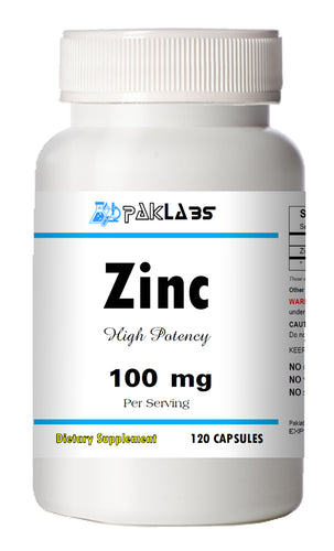 Zinc Citrate 100mg 120 Days Supply MAX BOOST IMMUNITY Capsules High Potency PL