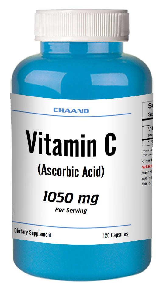 Vitamin-C Ascorbic Acid 1050mg Serving Immune Support HIGH POTENCY 120 Capsules USA SHIP