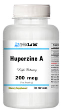 Load image into Gallery viewer, Huperzine A Capsules Enhances Memory 200mcg HIGH POTENCY 200 Capsules Big Bottle PL