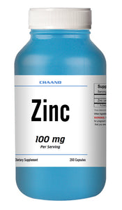Zinc Citrate 100mg Serving HUGE Bottle 200 Capsules - USA SHIP IMMUNE HEALTH