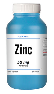 Zinc Citrate 50mg Serving HUGE Bottle 200 Capsules - USA SHIP IMMUNE HEALTH