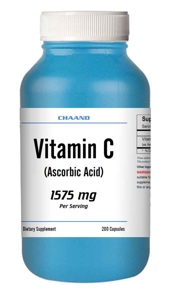 Vitamin-C Ascorbic Acid 1575mg Serving Immune Support HIGH POTENCY 200 Capsules USA SHIP