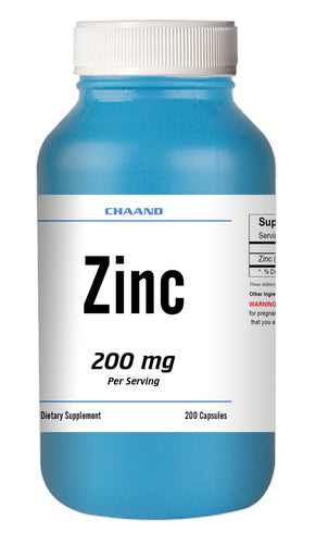 Zinc Citrate 200mg Serving HUGE Bottle 200 Capsules - USA SHIP IMMUNE HEALTH