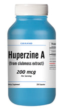 Load image into Gallery viewer, Huperzine A Capsules Enhances Memory 200mcg HIGH POTENCY 200 Capsules Big Bottle