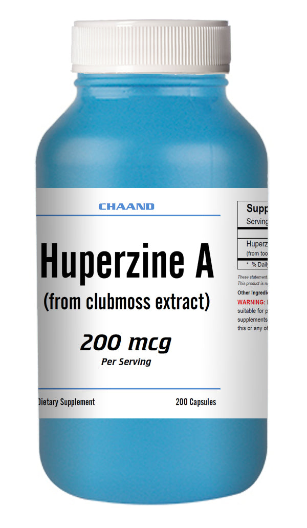 Huperzine A Capsules Enhances Memory 200mcg HIGH POTENCY 200 Capsules Big Bottle