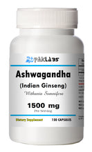 Load image into Gallery viewer, Ashwagandha Indian Ginseng 1500mg High Potency Big Bottle 120 Capsules PL