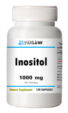 Load image into Gallery viewer, Inositol 1000mg High Potency Big Bottle 120 Capsules PL