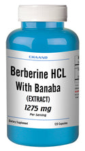 Load image into Gallery viewer, Berberine with Banaba Extract 1275mg Serving Big Bottle 120 Capsules CH