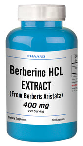 Berberine HCl 400mg Diabetes,Depression,Cholesterol,Heart Big Bottle 120 Capsules CH