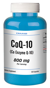 CoQ-10 CoEnzyme Q-10 800mg Serving High Potency Big Bottle 120 Capsules CH