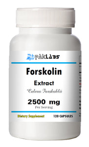Forskolin 100% Organic Extract 2500mg Coleus Forskohlii Weight Loss 120 Capsules PL