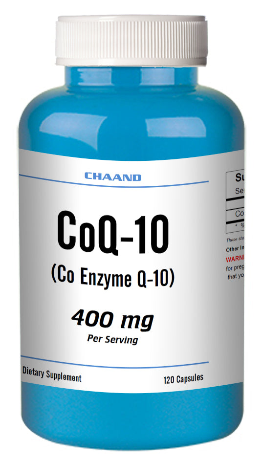 CoQ-10 CoEnzyme Q-10 400mg Serving High Potency Big Bottle 120 Capsules CH
