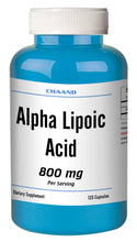 Load image into Gallery viewer, ALA Alpha Lipoic Acid 800mg Serving Extreme Strength Big Bottle 120 Capsules CH
