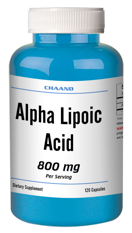 ALA Alpha Lipoic Acid 800mg Serving Extreme Strength Big Bottle 120 Capsules CH