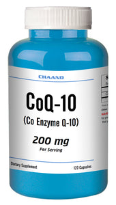 CoQ-10 CoEnzyme Q-10 200mg High Potency Big Bottle 120 Capsules CH