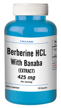 Load image into Gallery viewer, Berberine with Banaba Extract 425mg Big Bottle 120 Capsules CH