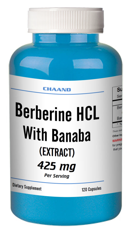 Berberine with Banaba Extract 425mg Big Bottle 120 Capsules CH