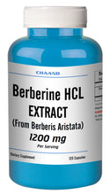 Load image into Gallery viewer, Berberine HCl 1200mg Diabetes,Depression,Cholesterol,Heart Big Bottle 120 Capsules CH