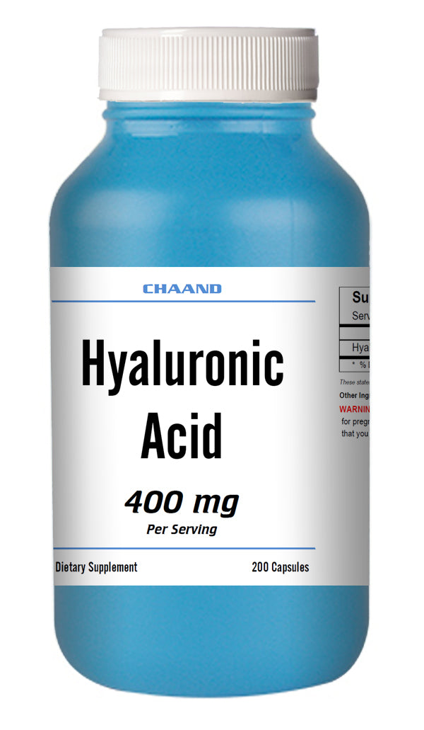 Hyaluronic Acid 400mg Serving High Potency Big Bottle 200 Capsules CH