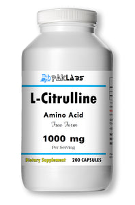 L-Citrulline Amino Acid 200 Capsules Cardiovascular Health 1000mg High Potency Huge Bottle PL