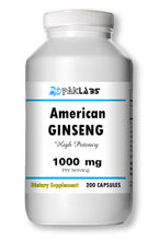 Load image into Gallery viewer, American GINSENG 1000mg 1000 mg High Potency Big Bottle 200 Capsules PL