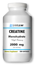 Load image into Gallery viewer, Creatine Monohydrate 2000mg Serving High Potency Big Bottle 200 Capsules PL