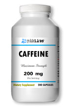 Load image into Gallery viewer, Caffeine High Potency 200mg High Potency Big Bottle 200 Capsules PL