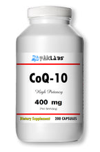 Load image into Gallery viewer, CoQ-10 CoEnzyme Q-10 400mg Super High Potency Big Bottle 200 Capsules PL