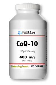 CoQ-10 CoEnzyme Q-10 400mg Super High Potency Big Bottle 200 Capsules PL