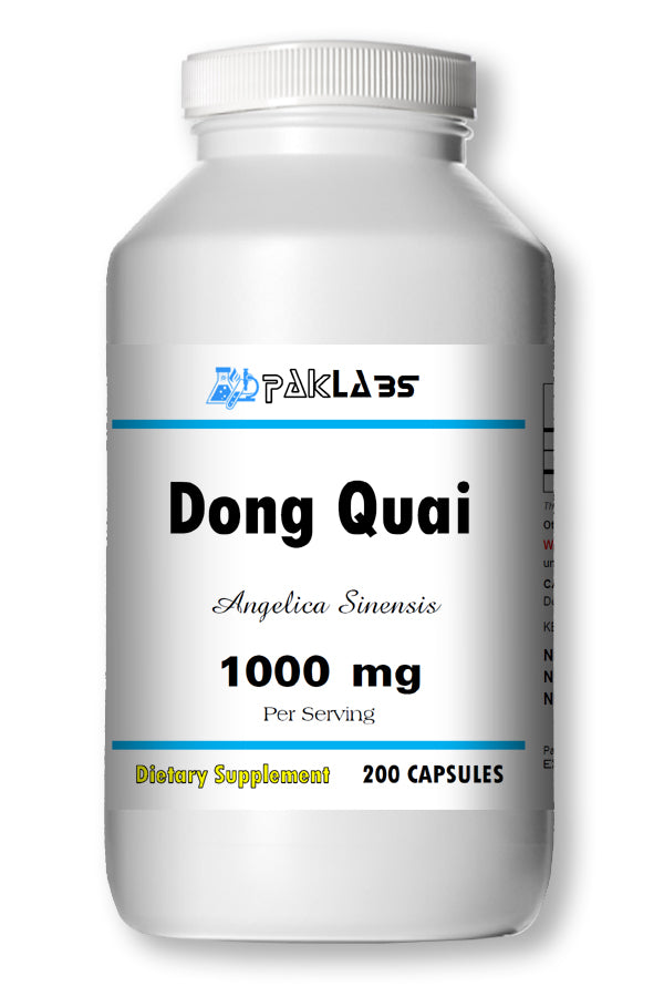 Dong Quai 900mg Serving High Potency Big Bottle 200 Capsules PL