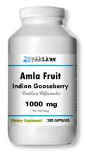Load image into Gallery viewer, Amla Fruit Indian Gooseberry 1000mg 1000 mg High Potency Big Bottle 200 Capsules PL