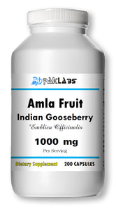 Amla Fruit Indian Gooseberry 1000mg 1000 mg High Potency Big Bottle 200 Capsules PL