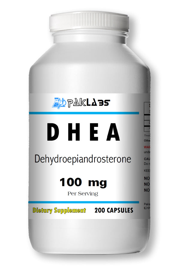 DHEA 100mg Serving High Potency Big Bottle 200 Capsules PL